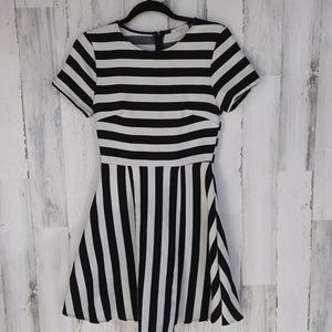 Everly Striped Short Sleeve Dress